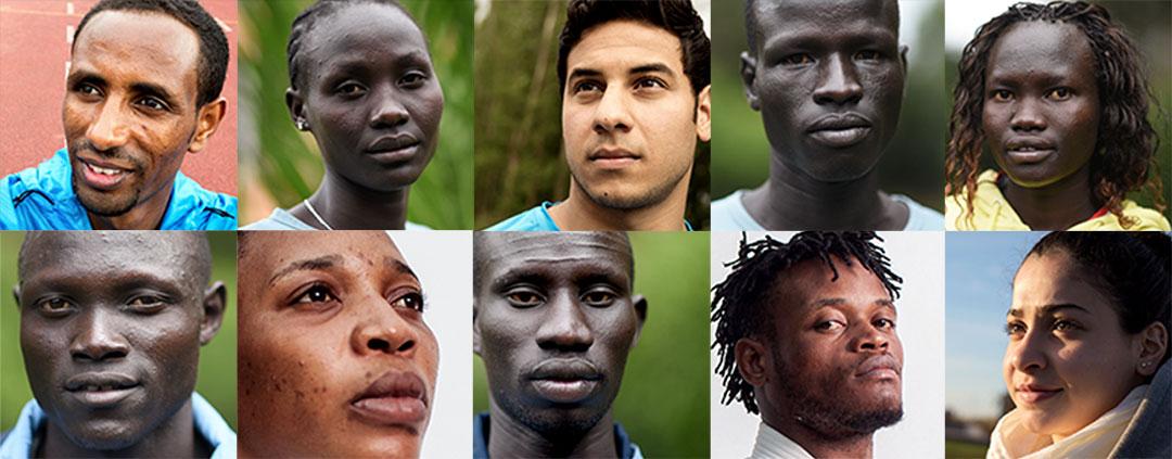 Nous accueillons l'équipe olympique des Réfugiés.